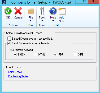 Dynamics Gp Setting Up Email Functionality Prophet Business Group