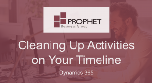 Microsoft Dynamics 365 Cleaning Up Activities on Timeline